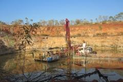 Barge Mounted Borehole Mining